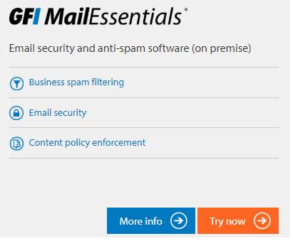 GFI Unlimited öğesi GFI Mail Essentials