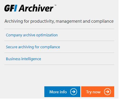 GFI Unlimited öğesi GFI Archiver