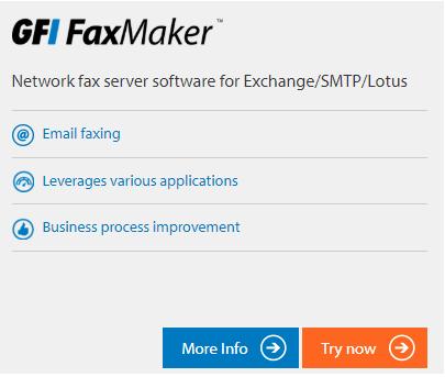 GFI Unlimited öğesi GFI Faxmaker